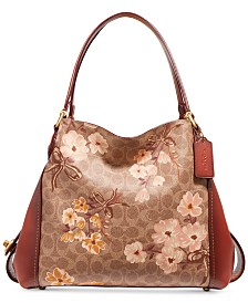 COACH Prairie Coated Canvas Signature Edie 31 Shoulder Bag