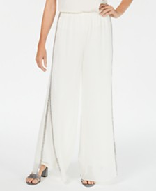 28th & Park Embellished Wide-Leg Pants, Created for Macy's