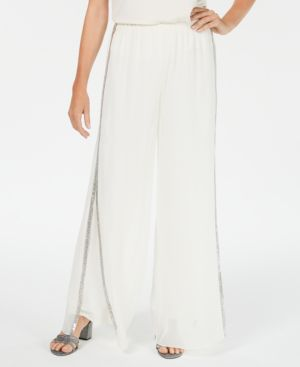 Image of 28th & Park Embellished Wide-Leg Pants, Created for Macy's