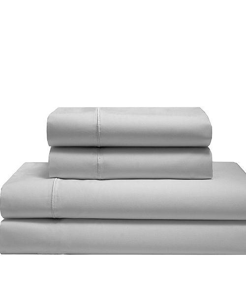 Elite Home Silky Soft Long Staple Cotton Solid Queen Sheet Set