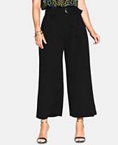 ad414c3e3b City Chic Trendy Plus Size High-Rise Wide-Leg Pants