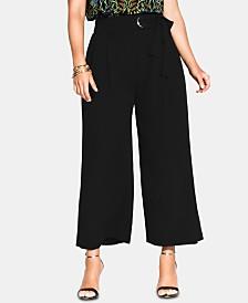 City Chic Trendy Plus Size High-Rise Wide-Leg Pants