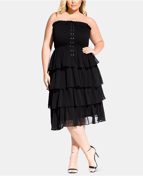 Trendy Plus Size Sienna Strapless Corset Dress