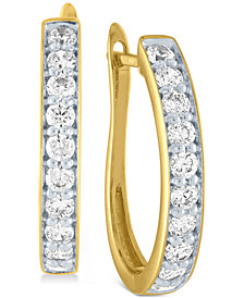 Diamond Hoop Earrings (1 ct. t.w.)