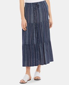 Karen Kane Printed Tiered Maxi Skirt
