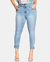 ac85f0c106f City Chic Trendy Plus Size Asha Cropped Skinny Jeans