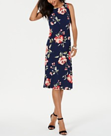 Jessica Howard Sleeveless Floral Midi Dress