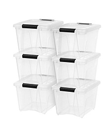 Iris 19 Quart 6 Pack Stack and Pull Box with Handles