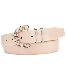 Steve Madden Chain-Buckle Plus-Size Belt