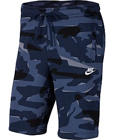 Nike Men's Sportswear Camo Fleece Shorts