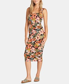 Billabong Juniors' Printed Bodycon Midi Tank Dress