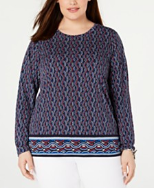 MICHAEL Michael Kors Plus Size Printed Top