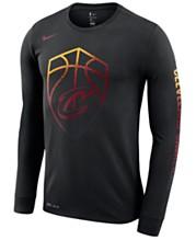 49d00eb9 Nike Men's Cleveland Cavaliers Dry Mezzo Logo Long Sleeve T-Shirt