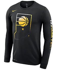 Nike Men's Indiana Pacers Dry Mezzo Logo Long Sleeve T-Shirt
