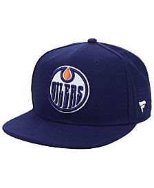 Authentic NHL Headwear Edmonton Oilers Basic Fan Snapback Cap