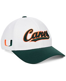 Top of the World Miami Hurricanes Tailsweep Flex Stretch Fitted Cap