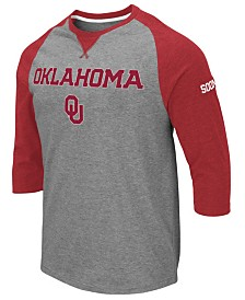 Colosseum Men's Oklahoma Sooners Team Patch Three Quarter Sleeve Raglan T-Shirt