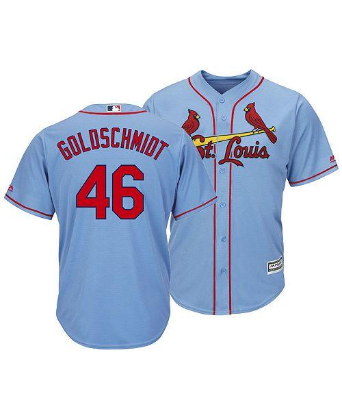 new arrivals ad609 1041d Men's Paul Goldschmidt St. Louis Cardinals Player Replica Cool Base Jersey