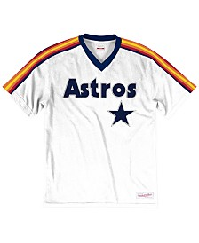 Mitchell & Ness Men's Big & Tall Houston Astros Coop Overtime Vintage Top