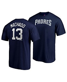 Majestic Men's Manny Machado San Diego Padres Official Player T-Shirt