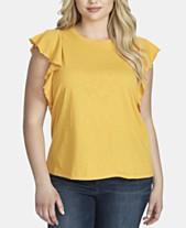 1f868e6a1d2217 Jessica Simpson Trendy Plus Size Ruffle-Sleeve Top