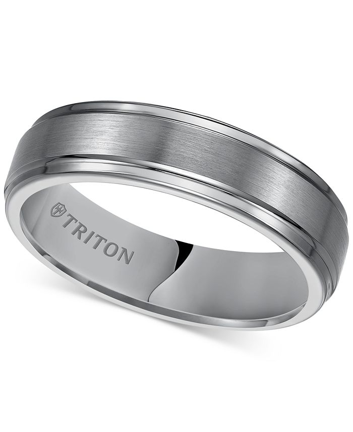 Triton - Men's Tungsten Carbide Ring, 6mm Comfort Fit Wedding Band