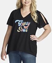 74a049523ffb8e Jessica Simpson Trendy Plus Size Graphic T-Shirt
