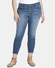 Trendy Plus Size Forever Slim Ankle Jeans