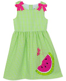 Rare Editions Little Girls Watermelon Gingham Dress