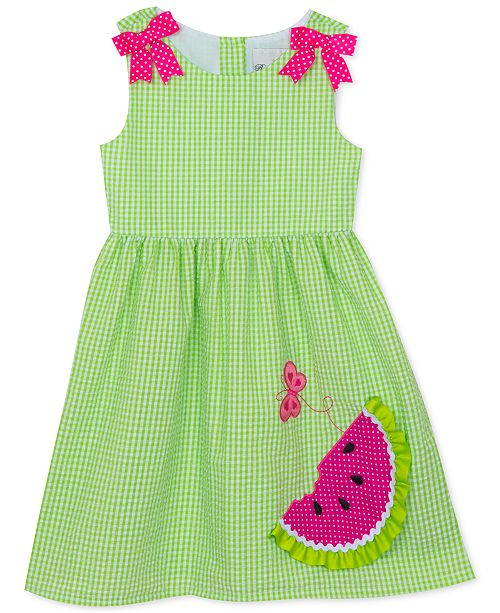 Rare Editions Toddler Girls Watermelon Gingham Dress