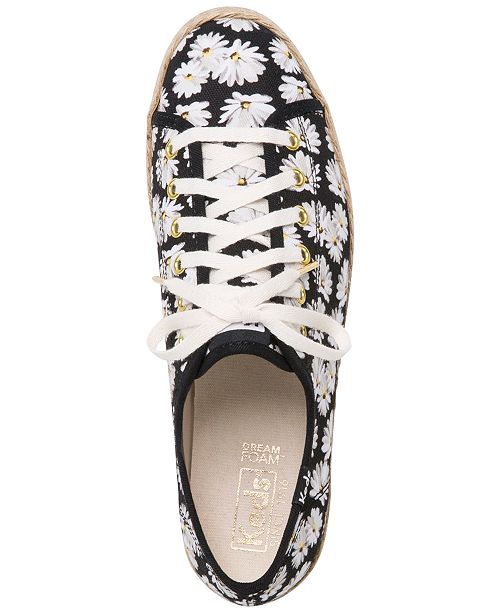 03a2f83e5b1d3 Keds Women s Triple Kick Daisy Sneakers   Reviews - Sneakers - Shoes ...