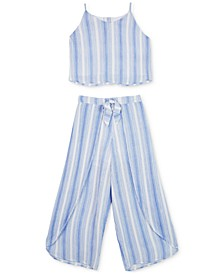 Big Girls 2-Pc. Striped Tank Top & Pants Set