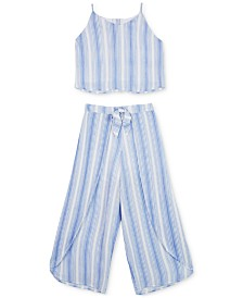 BCX Big Girls 2-Pc. Striped Tank Top & Pants Set