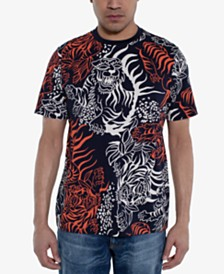 Sean John Men's Tiger Print T-Shirt