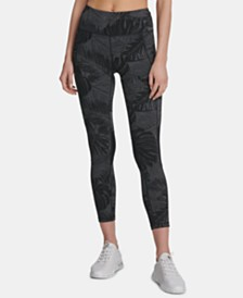 DKNY Sport Printed High-Waist Ankle Leggings