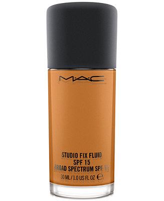 MAC Studio Fix Fluid SPF 15 Foundation, 1-oz. & Reviews - Foundation - Beauty - Macy's
