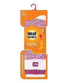 Heat Holders Women's Lite Cream Block Twist Thermal Socks