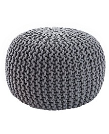 Visby Textured Round Pouf Collection