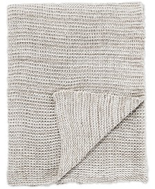 "Jaipur Living Dryden Gray/White Solid Throw 50"" X 60"""