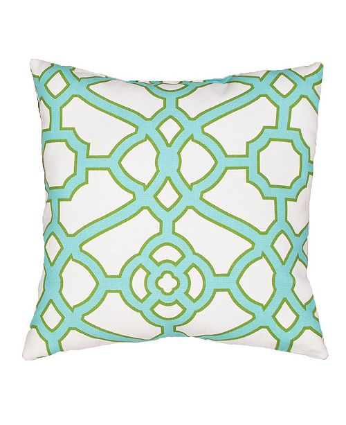 "Jaipur Living Pavilion Trellis Indoor/ Outdoor Throw Pillow 18"""