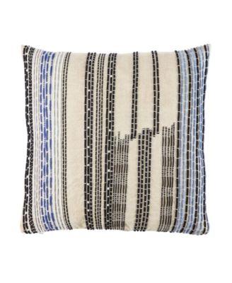 Nikki Chu By Nova Cream/Black Stripe Down Throw Pillow 22
