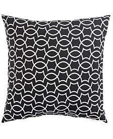 "Jaipur Living Titan Black/White Geometric Indoor/ Outdoor Throw Pillow 18"""