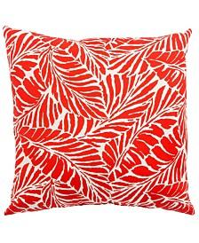 "Jaipur Living Malkus Fresco Red/White Floral Indoor/ Outdoor Throw Pillow 18"""