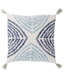 Nikki Chu By Jaipur Living Angelika Blue/Silver Textured Down Throw Pillow 22""