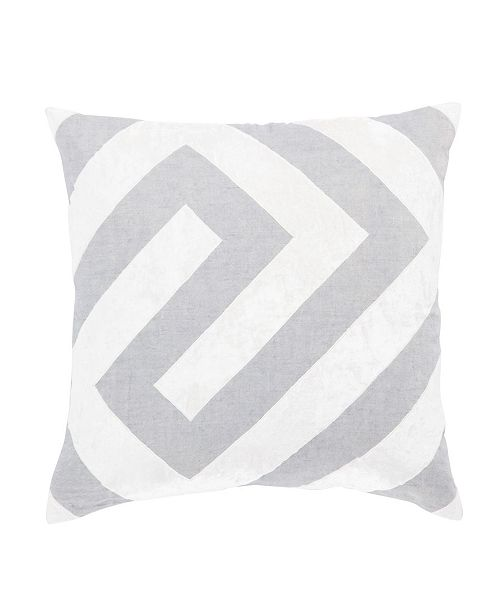 "Jaipur Living Nikki Chu By Hopi Silver/White Geometric Throw Pillow 22"" Collection"