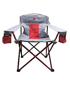 Omnicore Designs New Standard Xxl Big and Tall Heavy Duty Padded Mesh Quad Folding Camp Chair 500 Pounds Capacity
