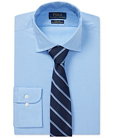 Men's Windowpane Cotton Dress Shirt