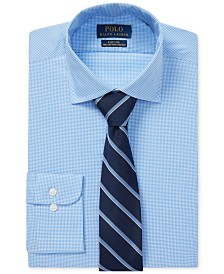 Polo Ralph Lauren Men's Windowpane Cotton Dress Shirt