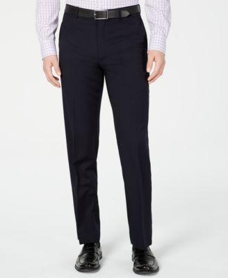 Men's Slim-Fit UltraFlex Navy Solid Suit Pants