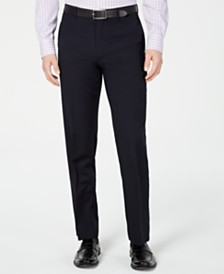Lauren Ralph Lauren Men's Slim-Fit UltraFlex Navy Solid Suit Pants